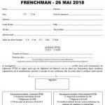Bulletin d'inscription MY TRIBE - FRENCHMAN